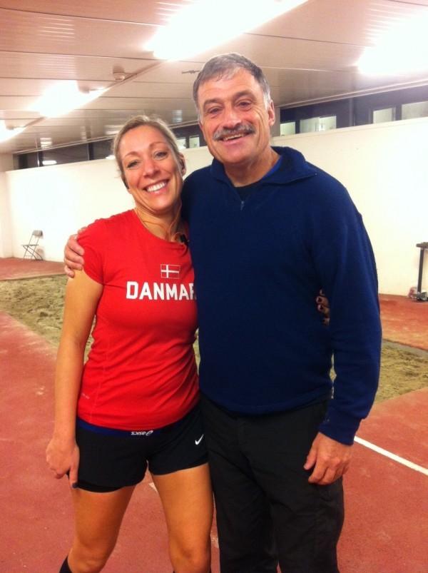 Min adept Diana med ultralegendaren Rune Larsson i Oslo i höstas. Foto: privat
