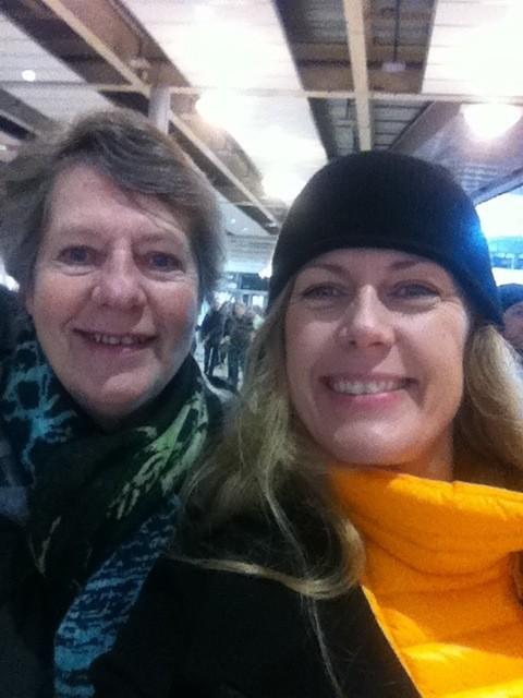 Mamma och jag på Vildmarksmässan. Foto: privat
