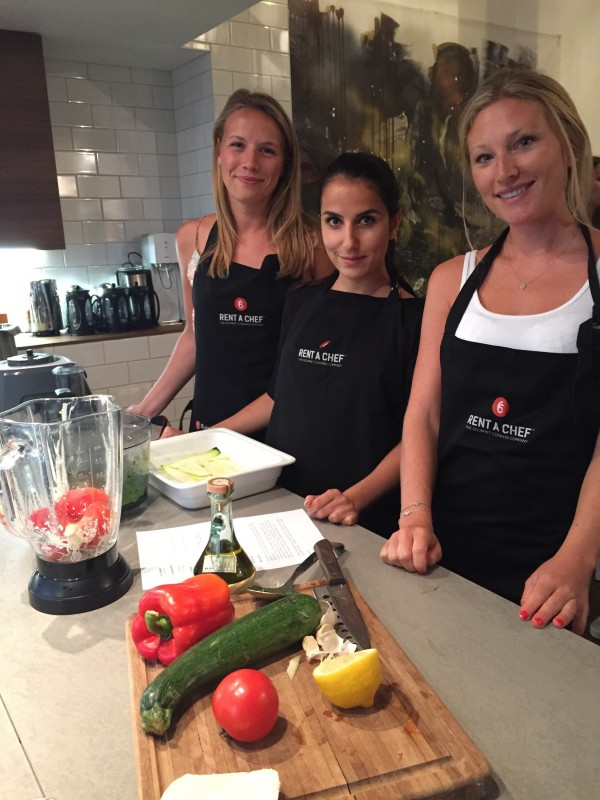 Mikaela, Maria och Valeri i mitt matlag. Foto: privat