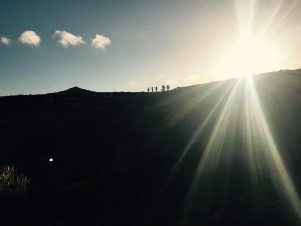 Kvällspromenad för att se solnedgången. Foto: privat