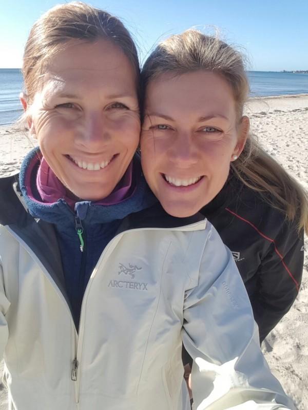 Anna Markelin (CrossNature) och jag håller träningshelg i Skåne. Foto: Anna Markelin