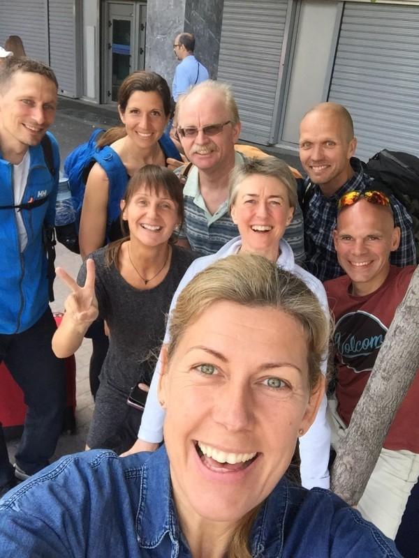 Längst bak: Jonas W, Sandra L, Jan-Erik R, Christer T, Nina E, Inga-Sarah L, RikardH och jag i fronten. Foto: privat