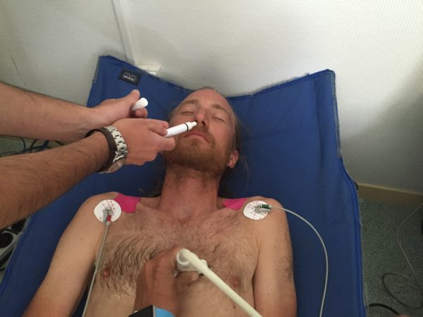 Dofttest. EKG, ultraljud och en rad andra tester. Foto: privat