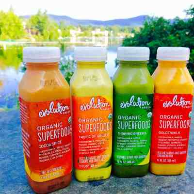 On the Go with Evolution Fresh® Organic Superfood Smoothies