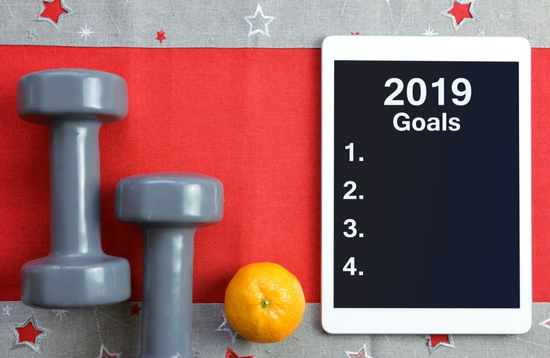 2019 Goals with gray weights and an orange