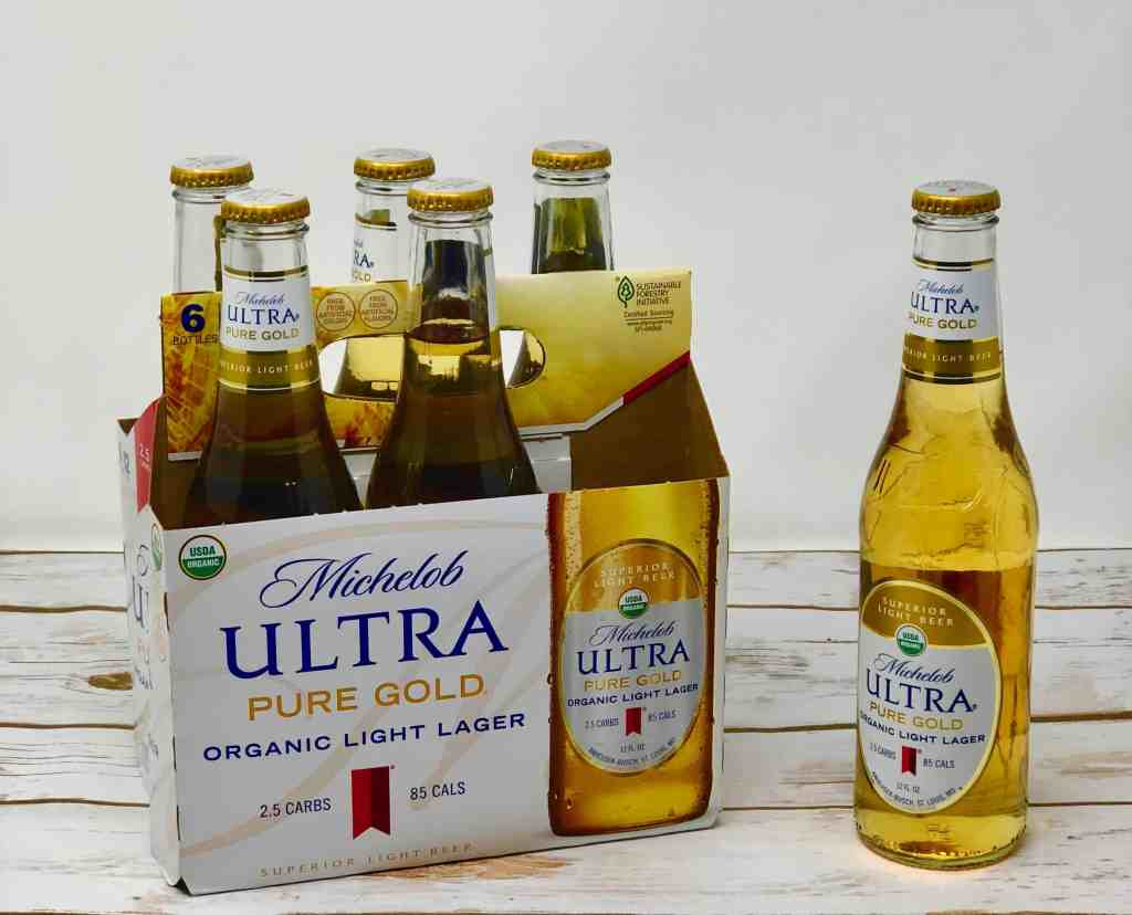 Michelob ULTRA Pure Gold six pack of bottles