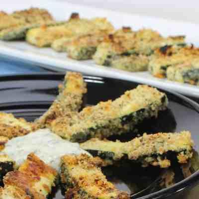 Zucchini Fries with Zesty Cilantro Dip
