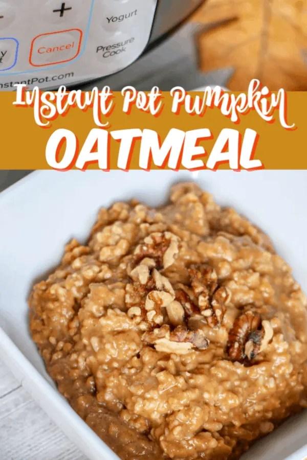 Instant Pot Pumpkin Oatmeal