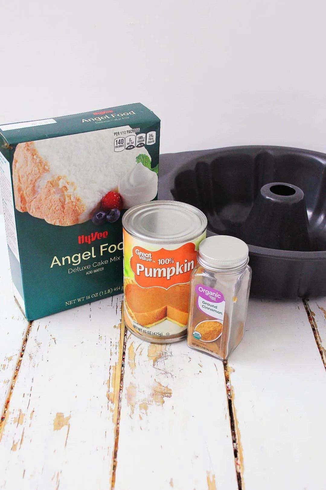 Pumpkin Angel Food Cake ingredients