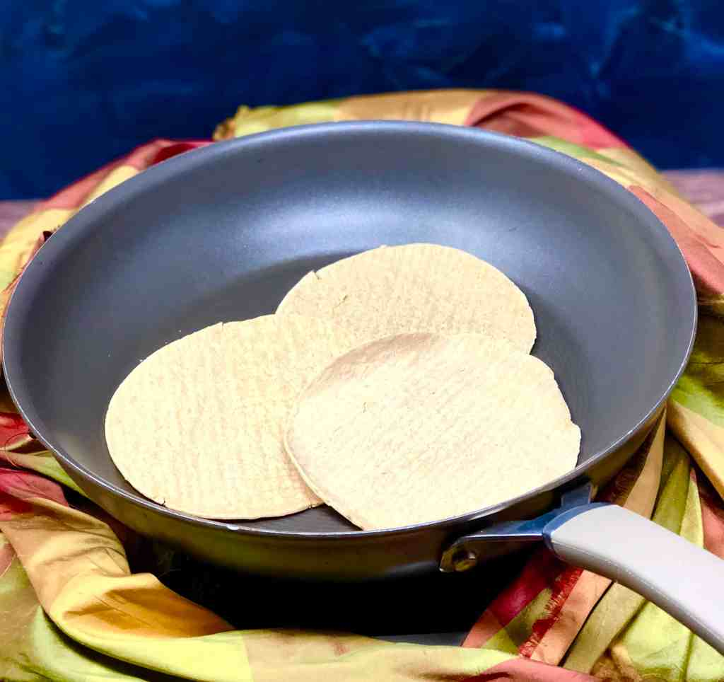CAULIPOWER Cauliflower Tortillas in a skillet