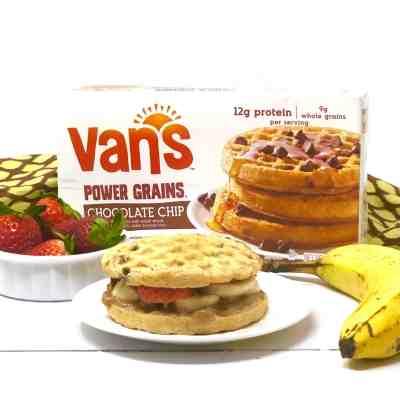 Vegetarian Waffle Sandwiches