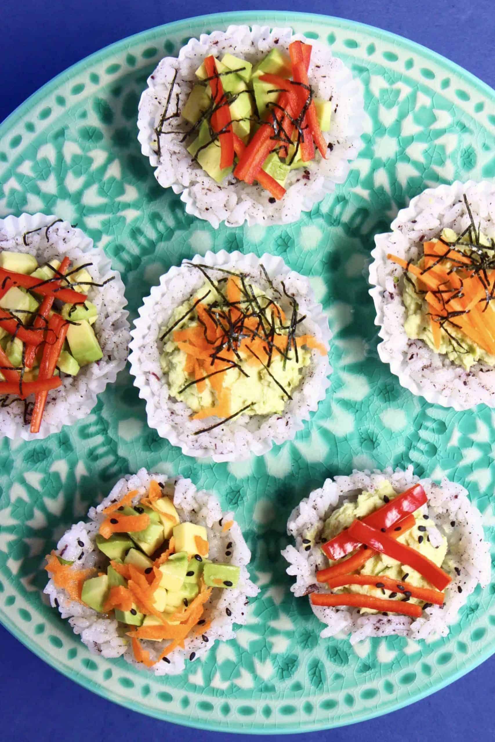 Muffin Tin Sushi Cups