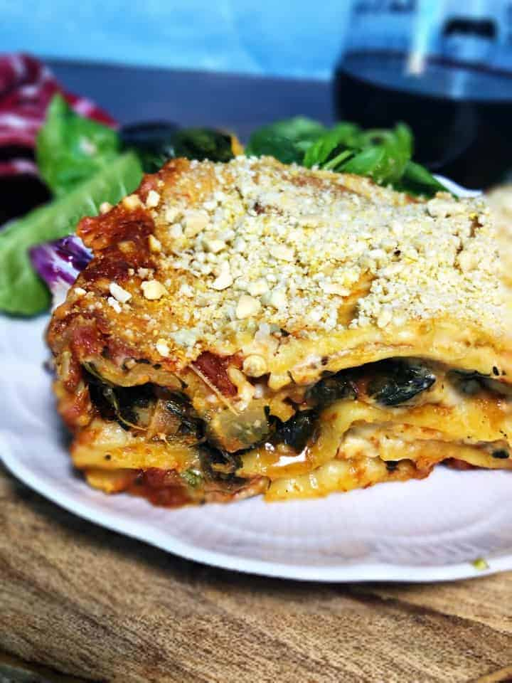 Lasagna with Cashew Bechamel (Vegan)