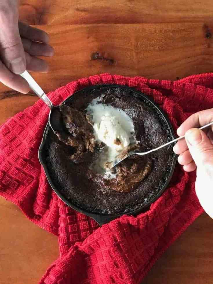 Hot Chocolate Skillet Cake