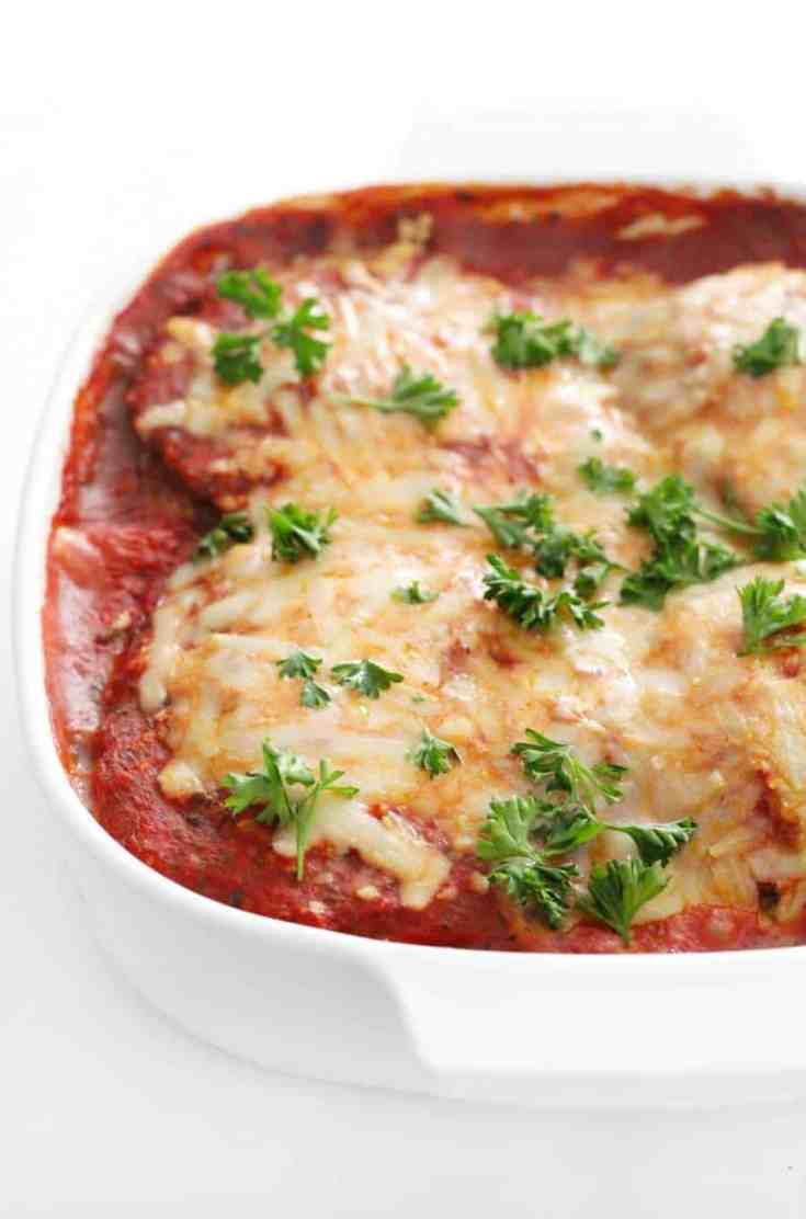 Vegan Eggplant Parmesan (Gluten-Free, Allergy-Free) | Air Fried & Baked