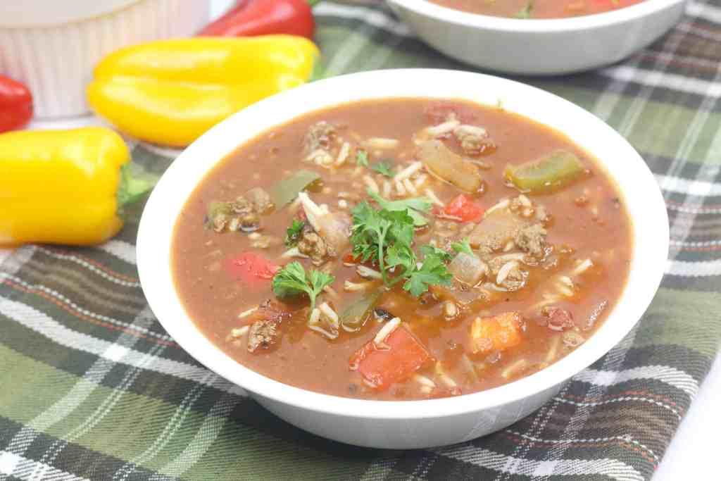 Easy Stuffed Bell Pepper Soup