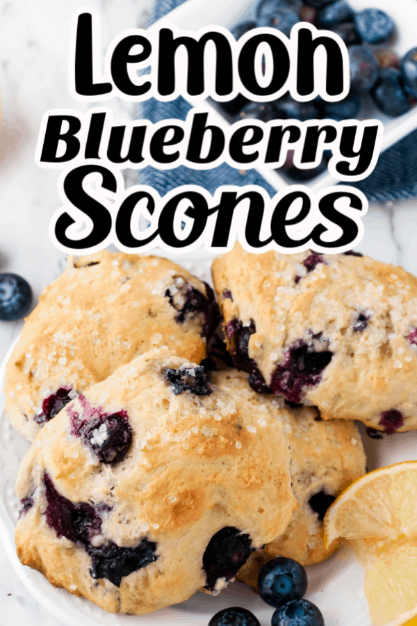Lemon blueberry scone pin