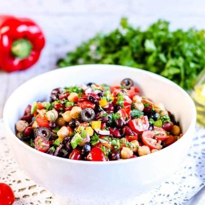 Rainbow Three Bean Salad