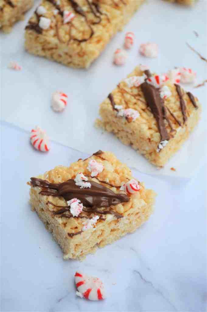 Chocolate Peppermint Rice Krispie Treats