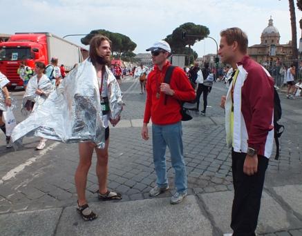 Pēc finiša Romas maratonā