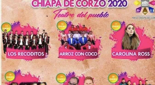artistas fiesta grande chiapa de corzo 2020