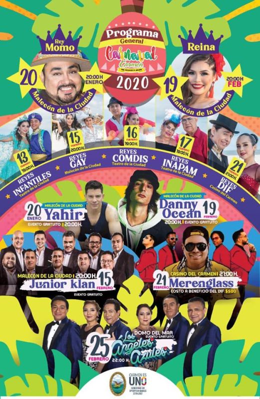 carnaval carmen 2020 artistas