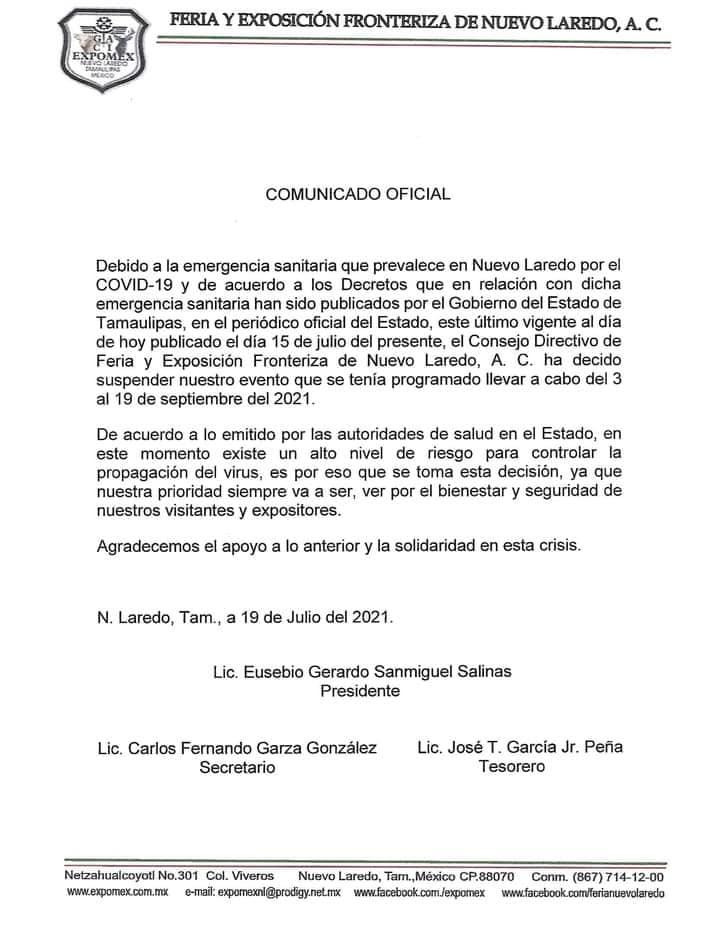 expomex cancelada