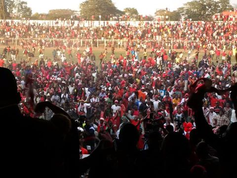 Bullets Supporters invading the play field in an unexpected jubilation