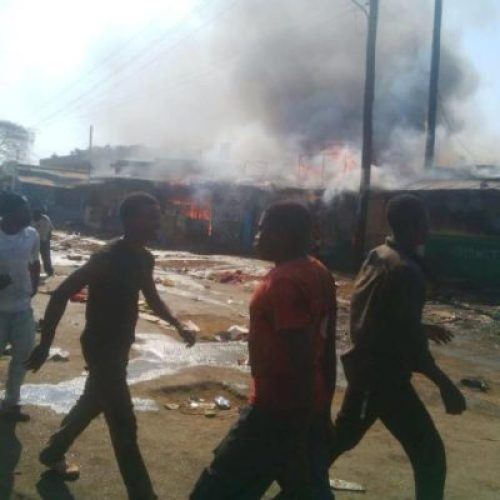 The inferno captured in Lilongwe