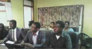 Kajoloweka (Centre) franked by Mzuni and Poly Student Union leaders