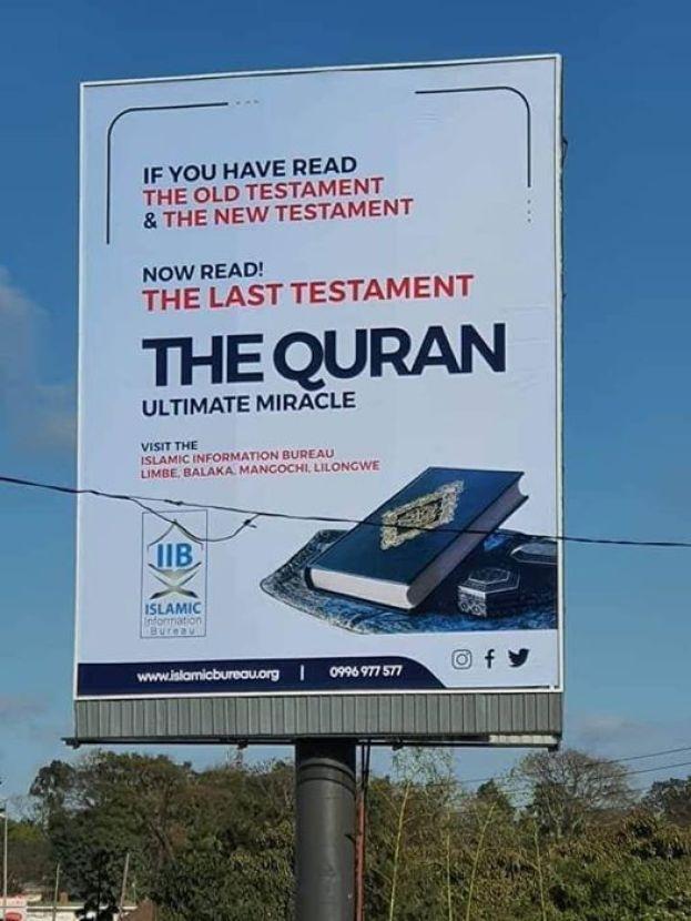 Muslim billboard defaced