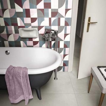 carrelage rose salle de bain marazzi