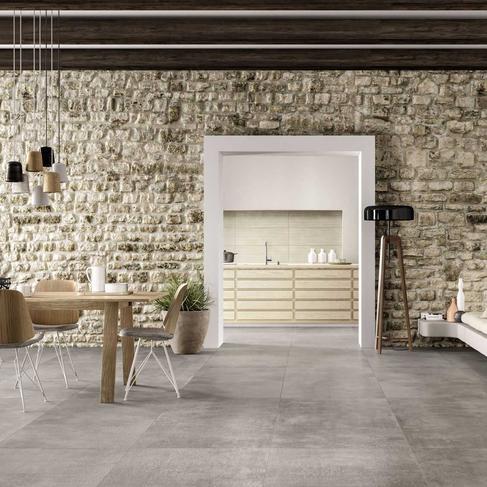 concrete effect porcelain tiles marazzi
