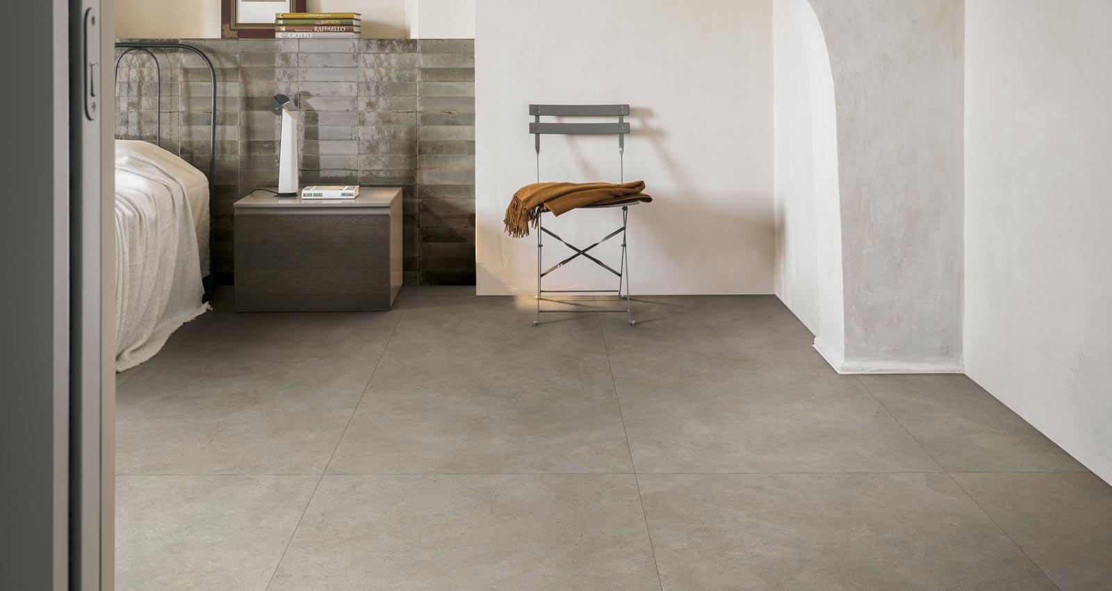 concrete effect porcelain stoneware