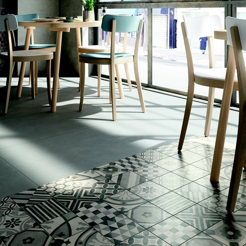cement and hexagon tiles marazzi
