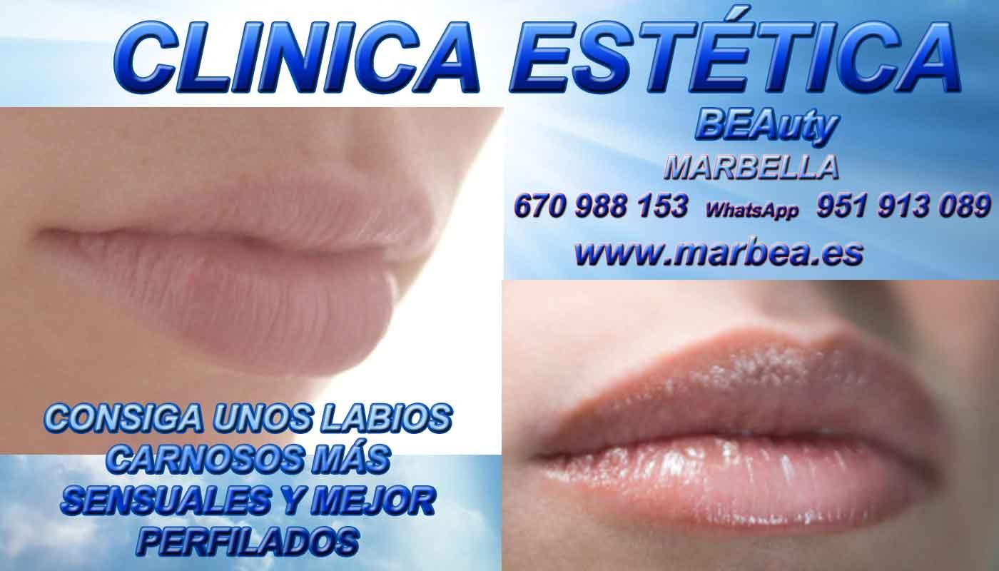 tratamiento para subir parpados sin cirugia aumento de labios Marbella