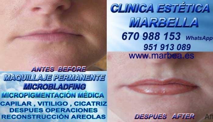 Microblading labios Marbella CLINICA ESTÉTICA entrega Maquillaje Permanente bocas en Marbella y en Marbella