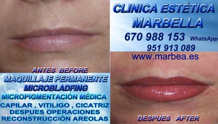 MAQUILLAJE PERMANENTE LABIOS MARBELLA CLINICA ESTÉTICA ofrenda Pigmentacion labios en Marbella y Marbella