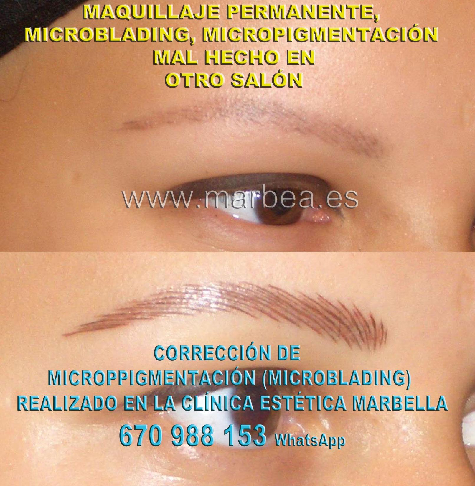 MAQUILLAJE PERMANENTE CEJAS MAL HECHO clínica estética micropigmentación ofrece eliminar la micropigmentación de cejas,corregir micropigmentación no deseada