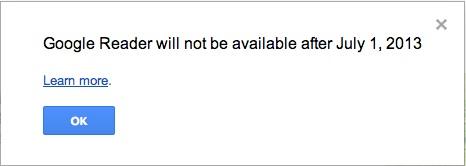 GoogleReaderが7月1日に終了