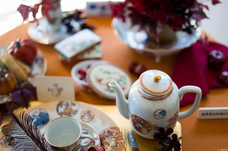 イギリス館 ハロウィーン仕様のテーブル