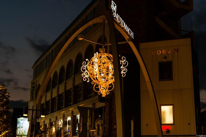 元町商店街 夜景