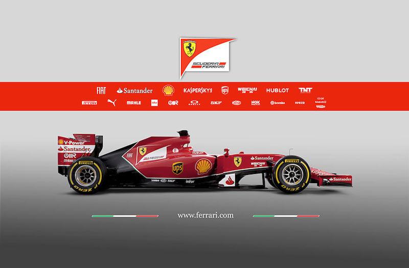 フェラーリ F14T 横