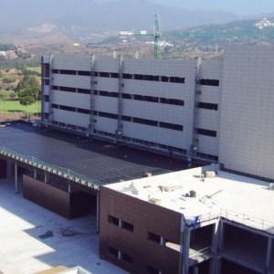 Obras de ampliación del Hospital Costa del Sol paralizadas en imagen de archivo.