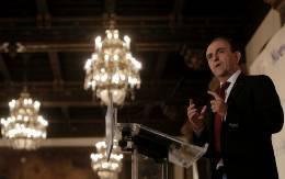 El consejero de Turismo, Rafael Rodríguez, este lunes en Sevilla al anunciar el Plan Sostenible