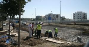 Imagen de las obras de la terminal de autobuses de San Pedro