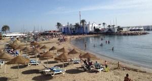 Foto de una céntrica playa de Marbella