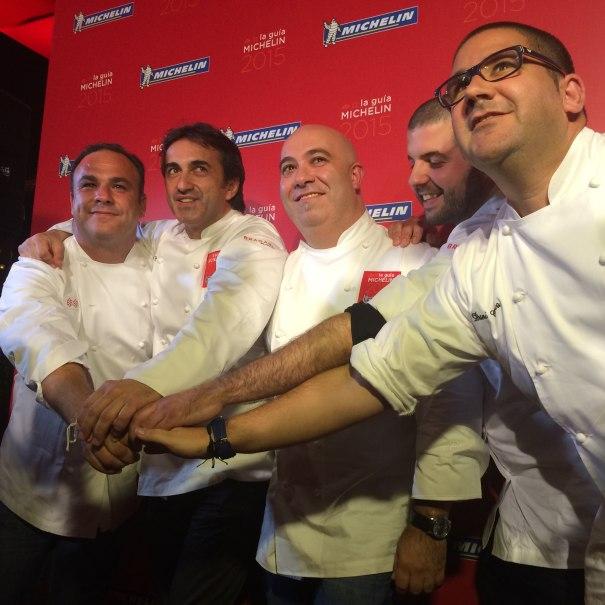 De izqda a drcha Ángel León, José Carlos García, Diego del Río,  Jaume Puigdengolas y Dani García