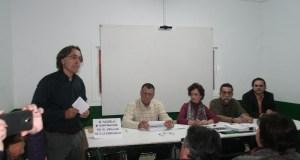 Imagen de la última reunión del movimiento contra la cesión de terrenos a Benahavís