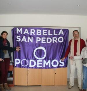 Miembros del Consejo Ciudadana de Podemos durante la última rueda de prensa celebrada